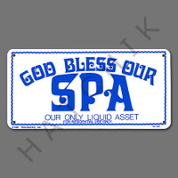 "X4041 SIGN- ""GOD BLESS OUR SPA"" #41343 SIGN-""GOD BLESS OUR SPA"""
