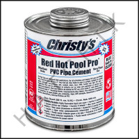 V1018 CHRISTY'S RED HOT PVC CEMENT /WET