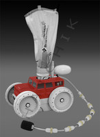 E4114 LETRO PLATINUM TRUCK SERIES R/W CLEANER HEAD/HOSE   RED/WHITE