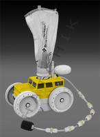 E4116 LETRO PLATNIUM TRUCK SERIES Y/W CLEANER HEAD/HOSE  YELLOW/WHT