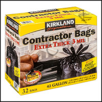 EE1065 CONTRACTOR TRASH BAG 42 GAL BOX 3 mil. BOX OF 32 BAGS