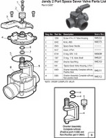 F7136 JANDY #3407 2-PORT SPACE SAVER VALVE - POSITIVE SEAL