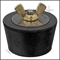 FF1109 WINTERIZING PLUG #9  WITH BRASS WING NUT