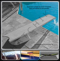G3003 DIVING BOARD T7 7FT W/SS GREY MOUNTING HARDWARE COLOR: GRAY