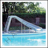 G3120 WHITEWATER SLIDE CURVE RIGHT COLOR: WHITE/COMPLETE W/LADDER