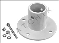 G5133 DECK ANCHOR FLANGE- WH ALUM 1.9 FOR SLIDE  1.9 OD-4 HOLE