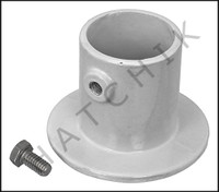 G5137 DECK ANCHOR FLANGE- WH ALUM 1.625 FOR LADDER 1.625 OD  CTR HOLE