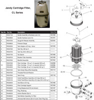 H2012 JANDY CL340 CARTRIDGE FILTER