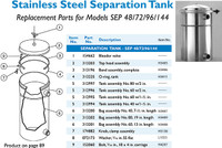 "H3055 SEPARATION TANK W/2"" #60 *OBS USE H3056 WHEN OUT 5/2010*"