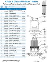 H3317 PAC FAB CLEAN & CLEAR CC150 CARTRIDGE FILTER  150 SQ.FT.
