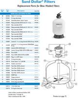 "H4101 PAC FAB SD35 16"" SAND DOLLAR FILTER W/ 1-1/2"" MULT. VALVE"