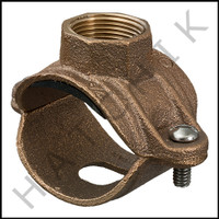 "H7090 SADDLE TEE CLAMP-BRASS 1-1/2 W/ 3/4"" TAP"