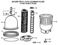 H9238 JACUZZI TC-300 TRI-C.L.O.P.S. CARTRIDGE FILTER