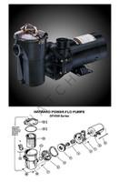 K3976 HAYWARD SP1592TL 1 HP MATRIX POWER-FLO PMP - SIDE DISCHARGE