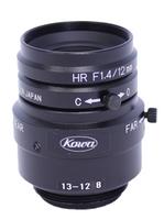"LM12JCM, JCM Series, 12mm Compact Megapixel Fixed Lens, 2/3"" Format, -0.07% distortion, High Resolution, C-mount, F/1.4"