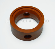 "Brewery Gaskets (metal Handle) Butterfly Valve Seat 2"" Orange Silicone"