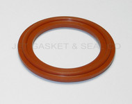 "4"" Red Silicone Tri-Clamp Gasket"
