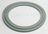 "1"" White Buna Metal Detectable Tri-Clamp Gasket"