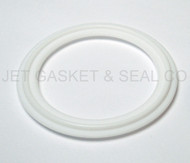 "6"" White Teflon 100% Virgin PTFE Tri-Clamp Gasket"