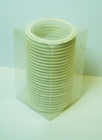"1.5"" White Teflon 100% Virgin PTFE Tri-Clamp Gasket Box of 25"