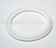 "4"" White Teflon 100% Virgin PTFE Tri-Clamp Gasket"