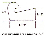 "18.75"" Black EPDM Manway Gasket Compatible with Cherry Burrell 18015A"