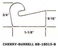 "18.75"" White Buna Manway Gasket Compatible with Cherry Burrell 18015A"