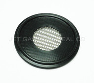 "Tri Clamp Screen Gasket 1"" Black Buna 80 Mesh"