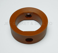 """Butterfly Valve Seat 1-1/2"""" Orange SILICONE Compatible with Candigra-Inoxpa"""