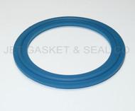 "2.5"" Blue Teflon 100% Virgin PTFE Tri-Clamp Gasket"