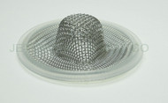 "1.5"" Tri Clamp Sock Screen Gasket Platinum Silicone 10 Mesh .75"""