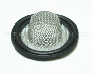 "1.5"" Tri Clamp Sock Screen Gasket Black Buna 10 Mesh .75"""