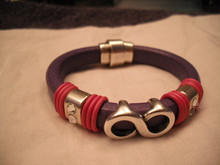 Mardi Gras Leather Bracelet