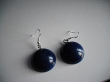 Vintage Lucite -- Dark Blue Sphere