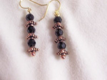 Black and Copper Earrings