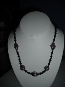 Arden Crystal and Siver Necklace