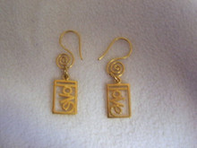 Gold Vermeil LOVE Earrings
