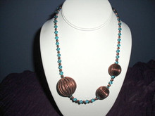 Doreen  Crystal and Copper Necklace