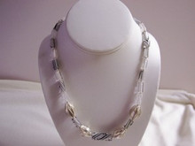 Eliza Furnace Glass and Silver Necklace