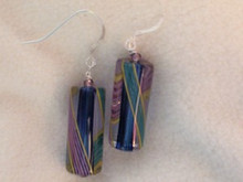 Multicolor Tube Earrings