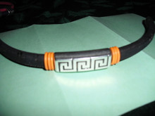 Greek Key Leather Bracelet