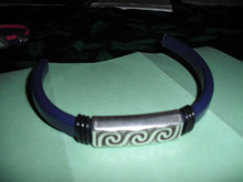 Midnight  Swirls Leather Bracelet