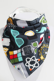 Geekery Bandana Bib with bamboo back.