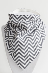 Basic Chevron Bandana Bib with bamboo back.