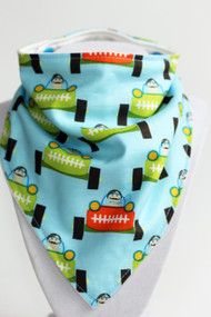 Speedster Bandana Bib with bamboo back.