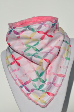 Fine floral design with pink minky back