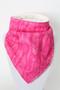 Pink Flourish Bandana Bib with ivory minky back.