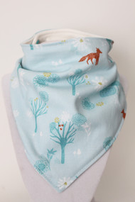 Spring Forest bandana bib with bamboo back.