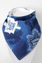 Toronto Maple Leafs bandana bib with bamboo back.