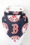 Boston Red Sox bandana bib with bamboo back.